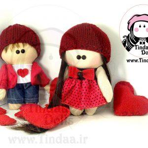 عروسک روسی تیندا - ست دختر . پسر مخصوص ولنتاین