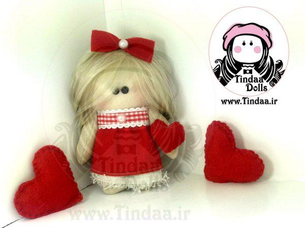 آویز عروسک روسی دختر کد #127 به همراه کلاه بافتنی