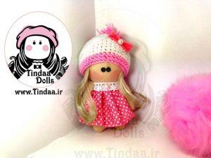 عروسک روسی دختر کد #130 به همراه کلاه بافتنی