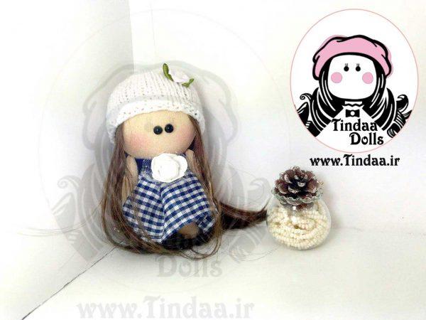 عروسک روسی دختر کد #131 به همراه کلاه بافتنی