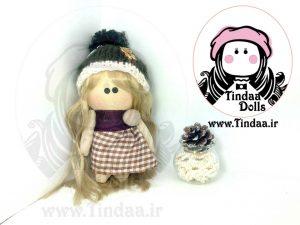 عروسک روسی دختر کد #135 به همراه کلاه بافتنی