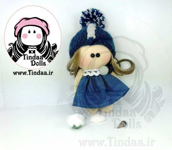 آویز عروسک روسی دختر کد #136 به همراه کلاه بافتنی