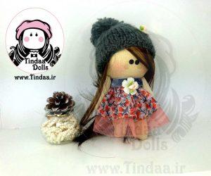 عروسک روسی دختر کد #138 به همراه کلاه بافتنی