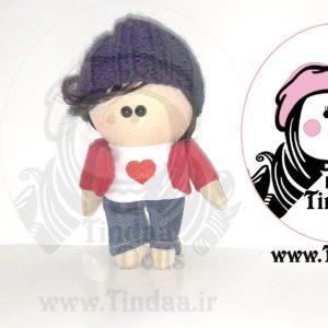 آویز عروسک روسی پسر کد #146 به همراه کلاه بافتنی