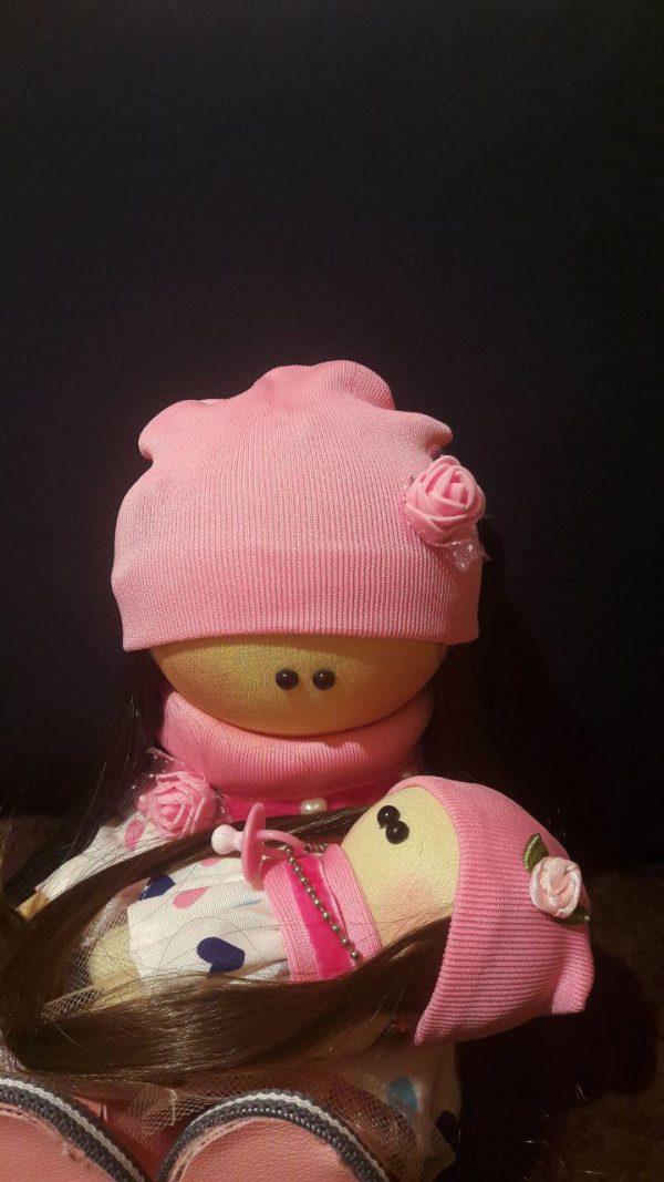 عروسک ست مادر دختر صورتی