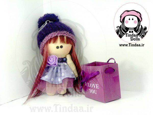 آویز عروسک روسی دختر کد #139 به همراه کلاه بافتنی