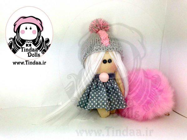 آویز عروسک روسی دختر کد #141 به همراه کلاه بافتنی