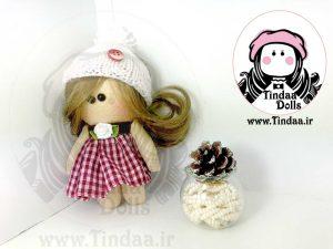آویز عروسک روسی دختر کد #142 به همراه کلاه بافتنی