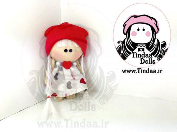 عروسک روسی دختر کد #147 به همراه کلاه بافتنی