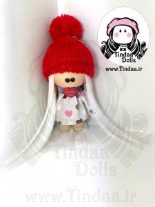 آویز عروسک روسی دختر کد #148 به همراه کلاه بافتنی