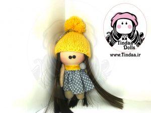 آویز عروسک روسی دختر کد #۱۴۸ به همراه کلاه بافتنی