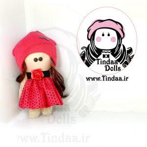 عروسک روسی دختر کد #102 به همراه کلاه بافتنی