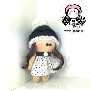 آویز عروسک روسی دختر کد #151 به همراه کلاه بافتنی