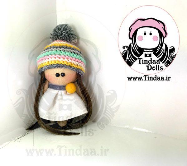 آویز عروسک روسی دختر کد #153 به همراه کلاه بافتنی