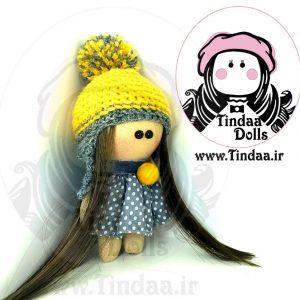 آویز عروسک روسی دختر کد #155به همراه کلاه بافتنی
