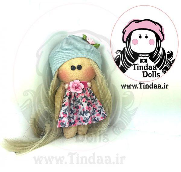 آویز عروسک روسی دختر کد #156 به همراه کلاه بافتنی