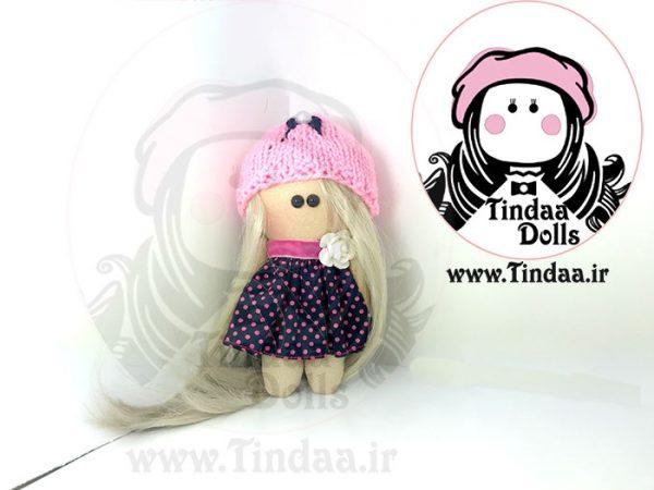 آویز عروسک روسی دختر کد #157به همراه کلاه بافتنی