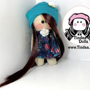 آویز ۱۰ سانتی متری عروسک روسی دختر کد #163 به همراه کلاه کش بافت